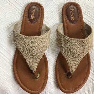 The Sak crochet  flip flops.